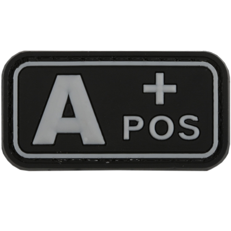 Parche - 3D TAP grupo sanguíneo A Pos swat