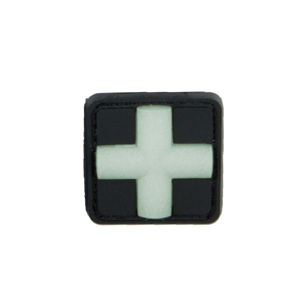 Parche 3D Red Cross Medic fosforescente 25 mm