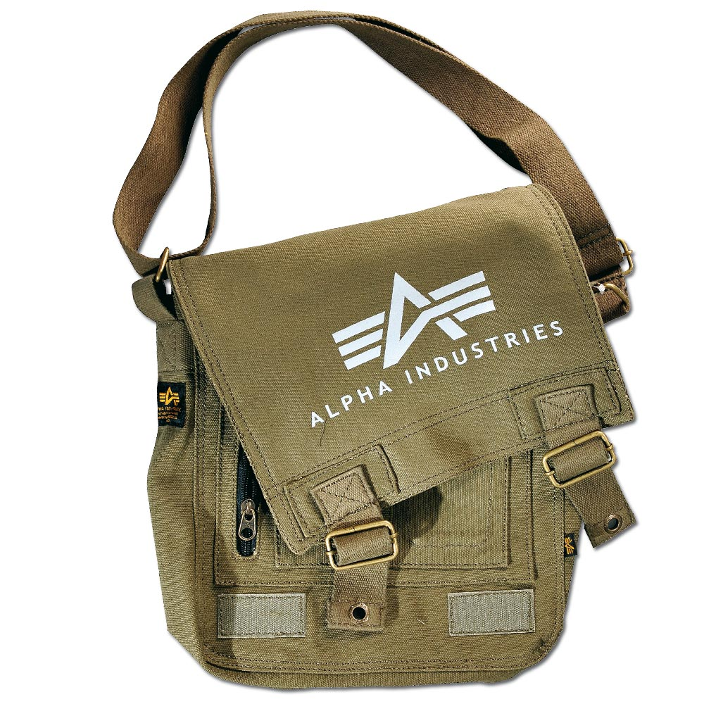 Alpha Industries Big A Canvas Utility Bag verde oliva
