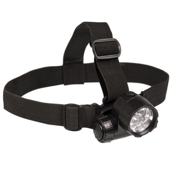 Linterna frontal Mil-Tec 6 LED plus 1 negro