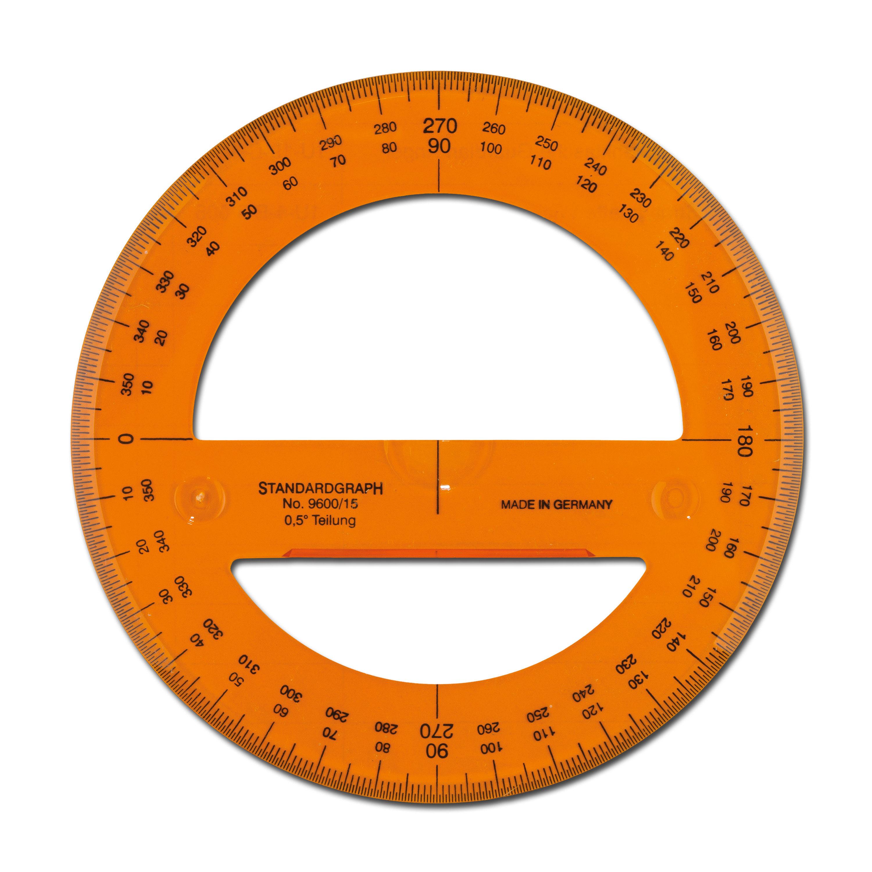 Transportador de ángulos circular
