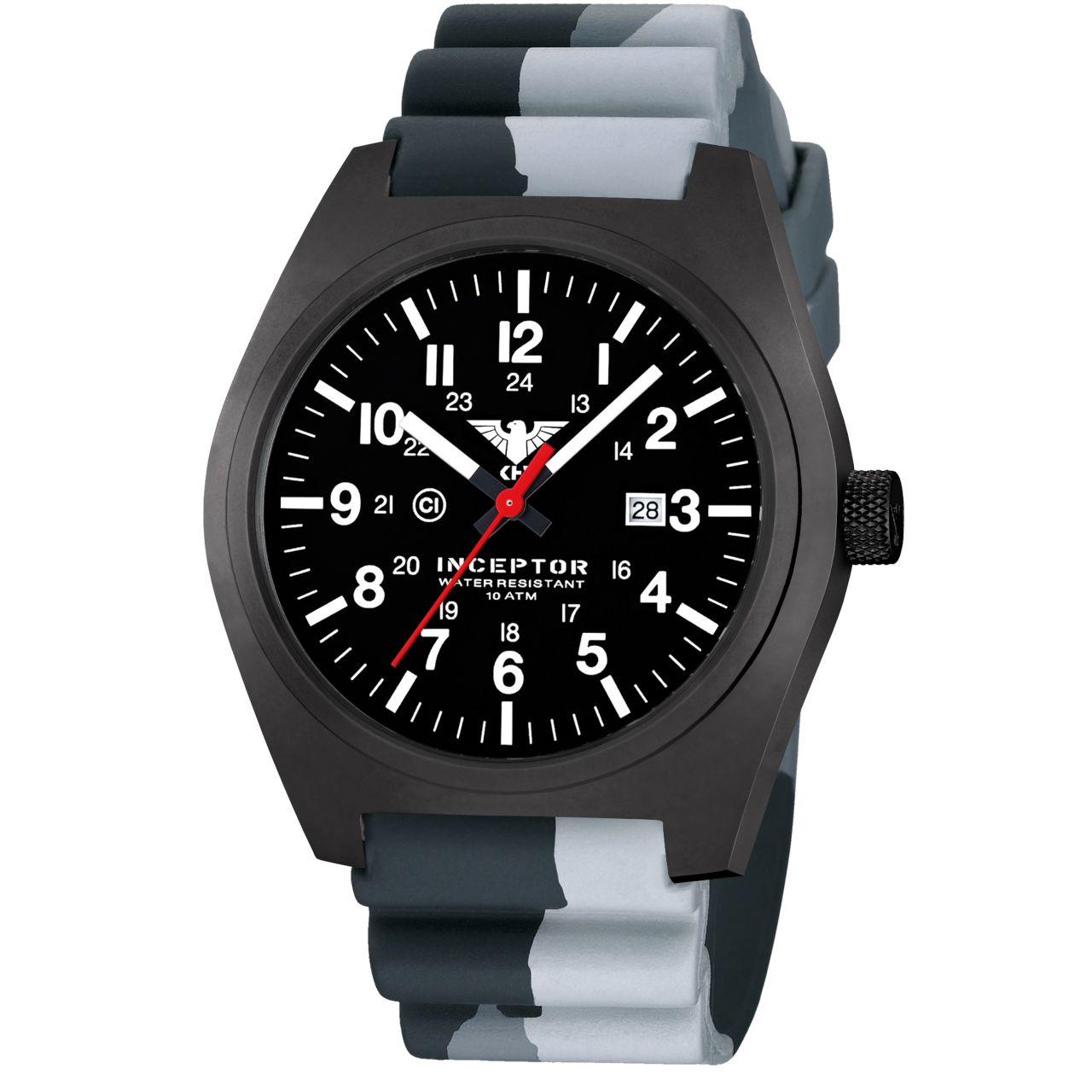 Reloj KHS Inceptor Black Steel Correa diver camo grey
