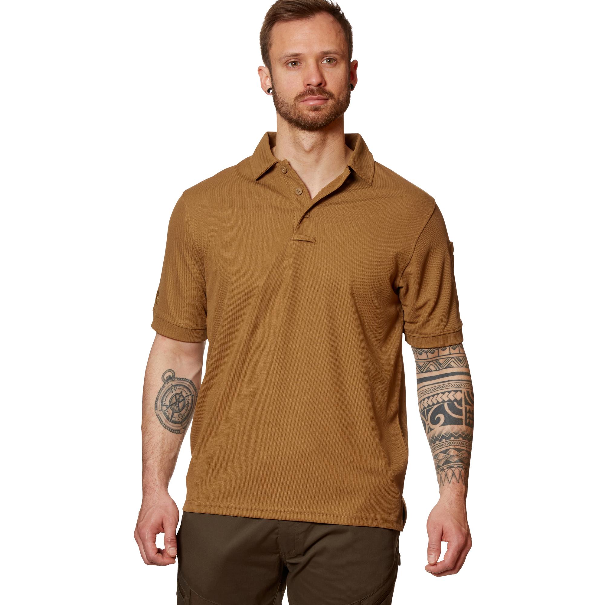 Camping La Manga For Sale: Camiseta Polo Helikon-Tex UTL TopCool Coyote