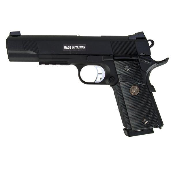 Pistola KJ Works Airsoft M1911 MEU Full Metal GBB negra