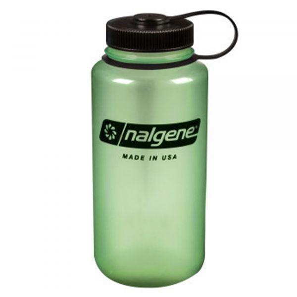 Nalgene Botella boca ancha Weithals 1 L glow verde