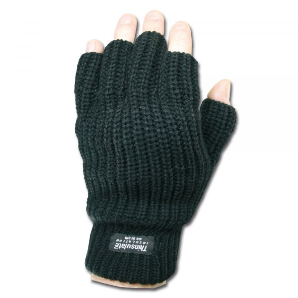 Guantes sin dedos Thinsulate negros