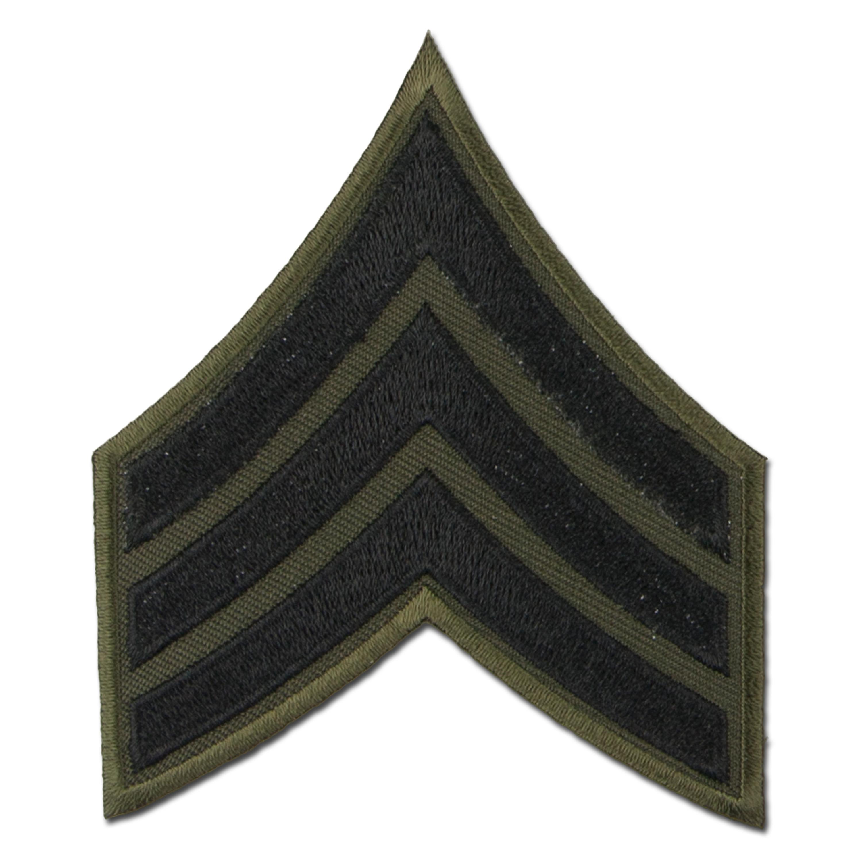 Distintivo de rango US textil Sergeant negro