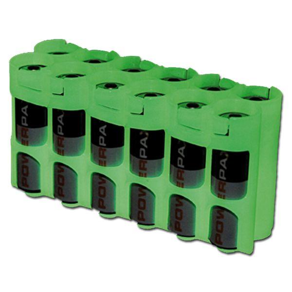 Soporte para baterías Powerpax 12 x AA fosforescente