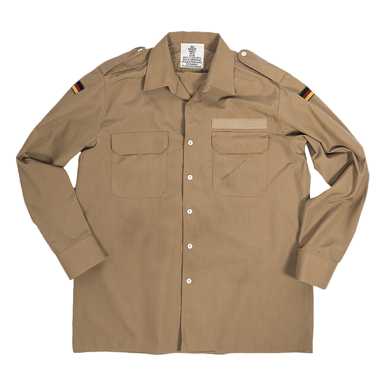 Camisa BW Bord tropical caqui usada