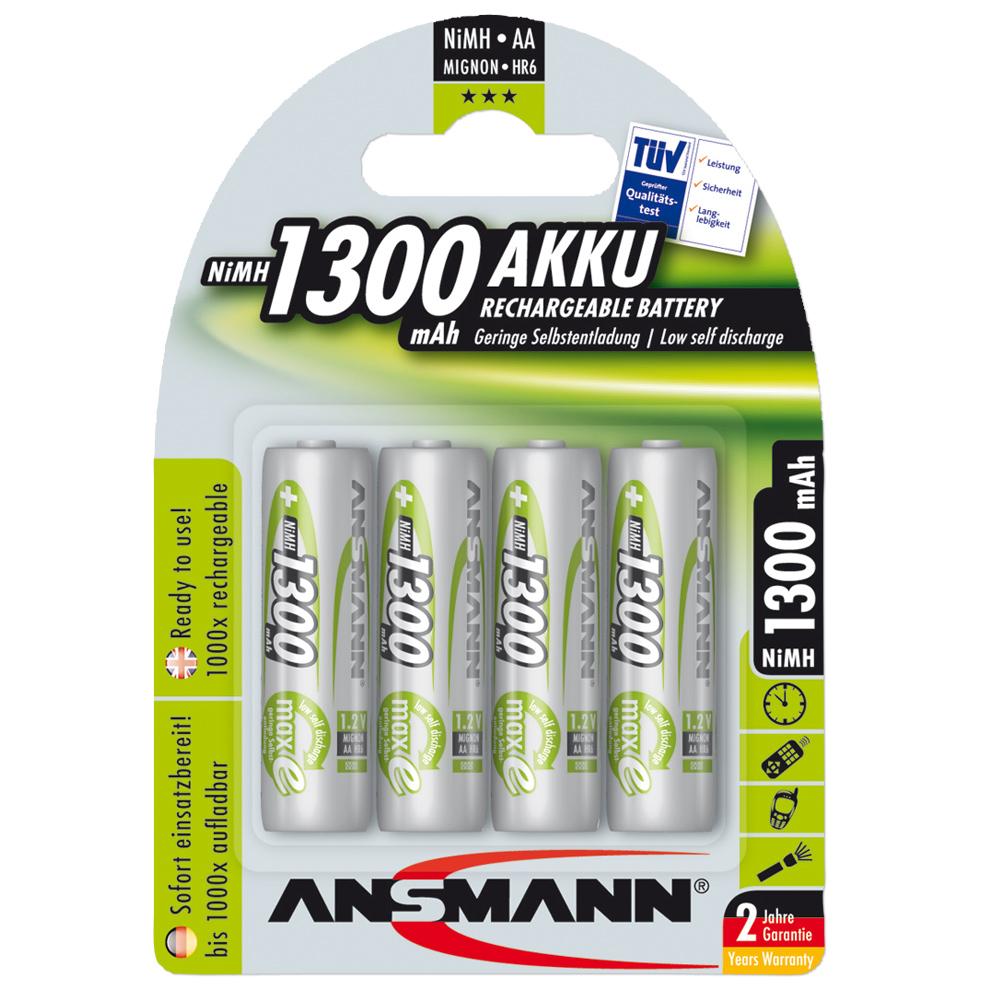 Batería Ansmann NiMH Mignon AA Green-Line - 4 unidades