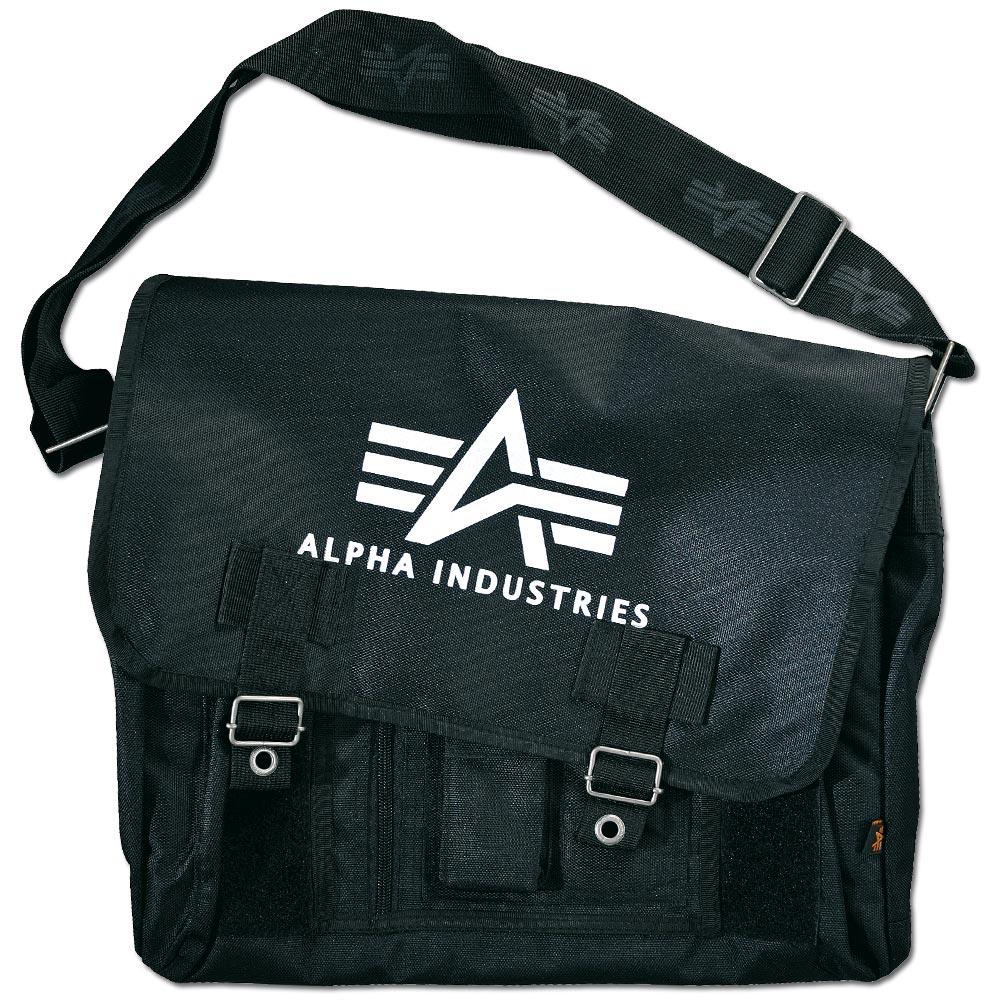 Bolsa bandolera Alpha Industries Big A Oxford Courier Bag negra