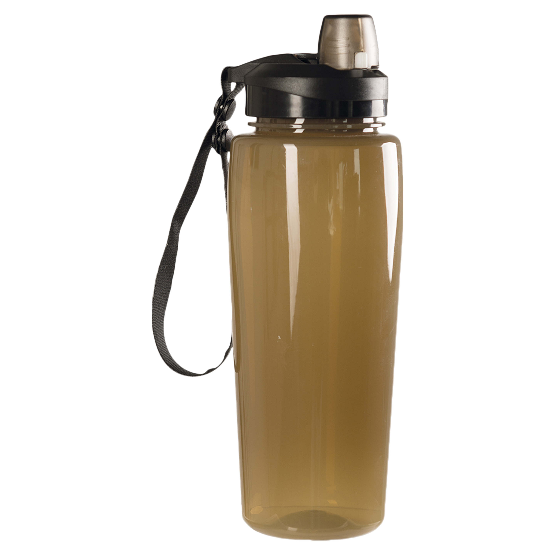 Botella para bebida Mil-Tec transparente coyote