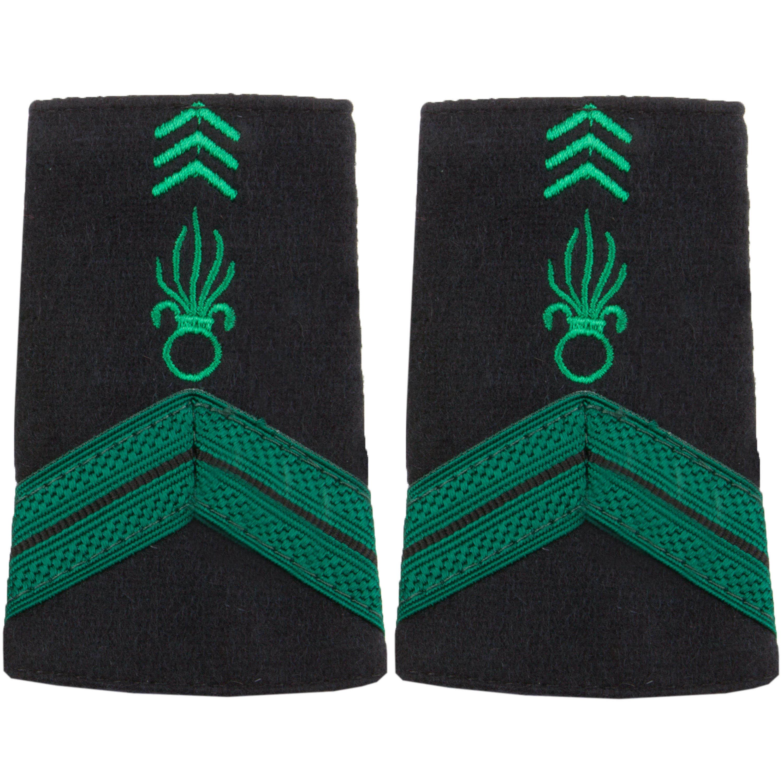 Distintivo de rango Tela Caporal Légion verde-negro