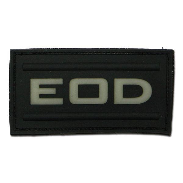 Parche -3D EOD negro luminiscente