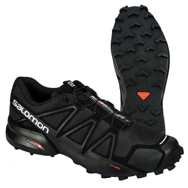 Calzado Salomon Speedcross 4 Wide negro metalizado