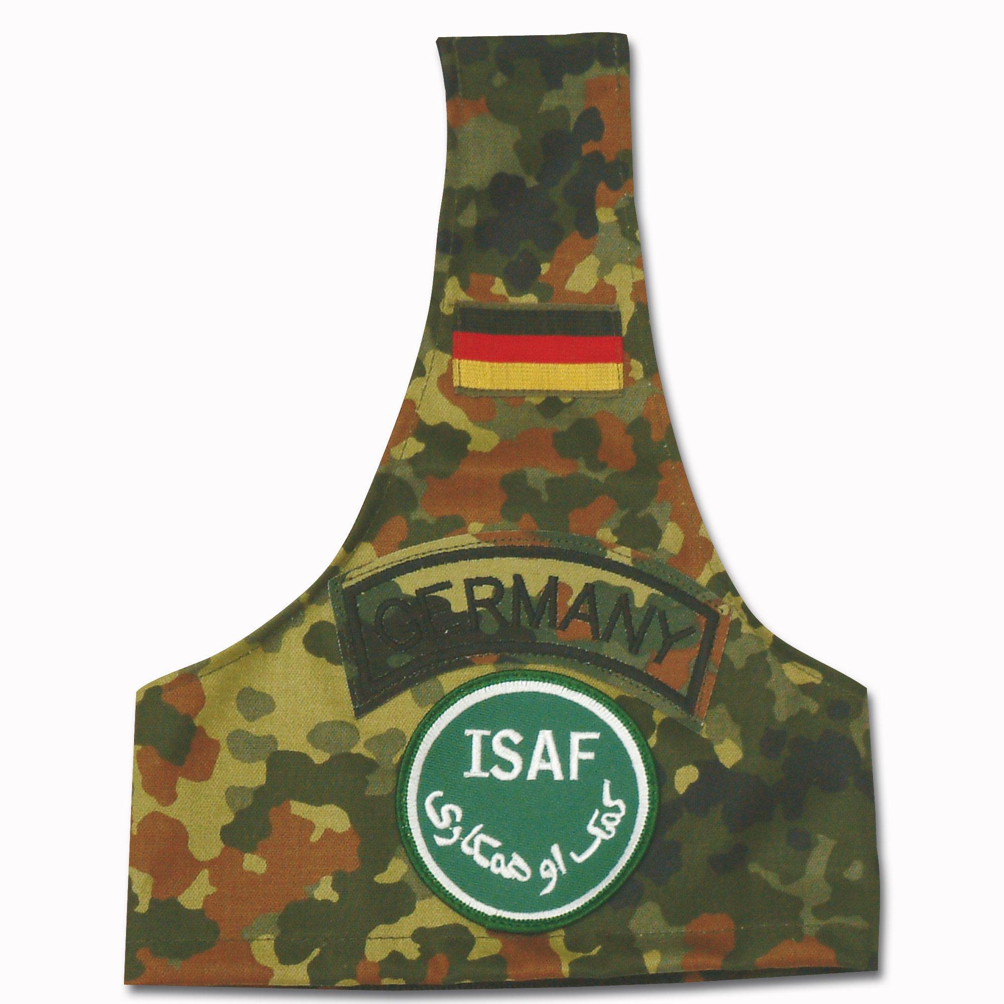 Brazalete flecktarn con insignia ISAF