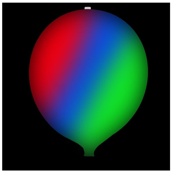 KNIXS Tac Ballon globo blanco Multicolor LED