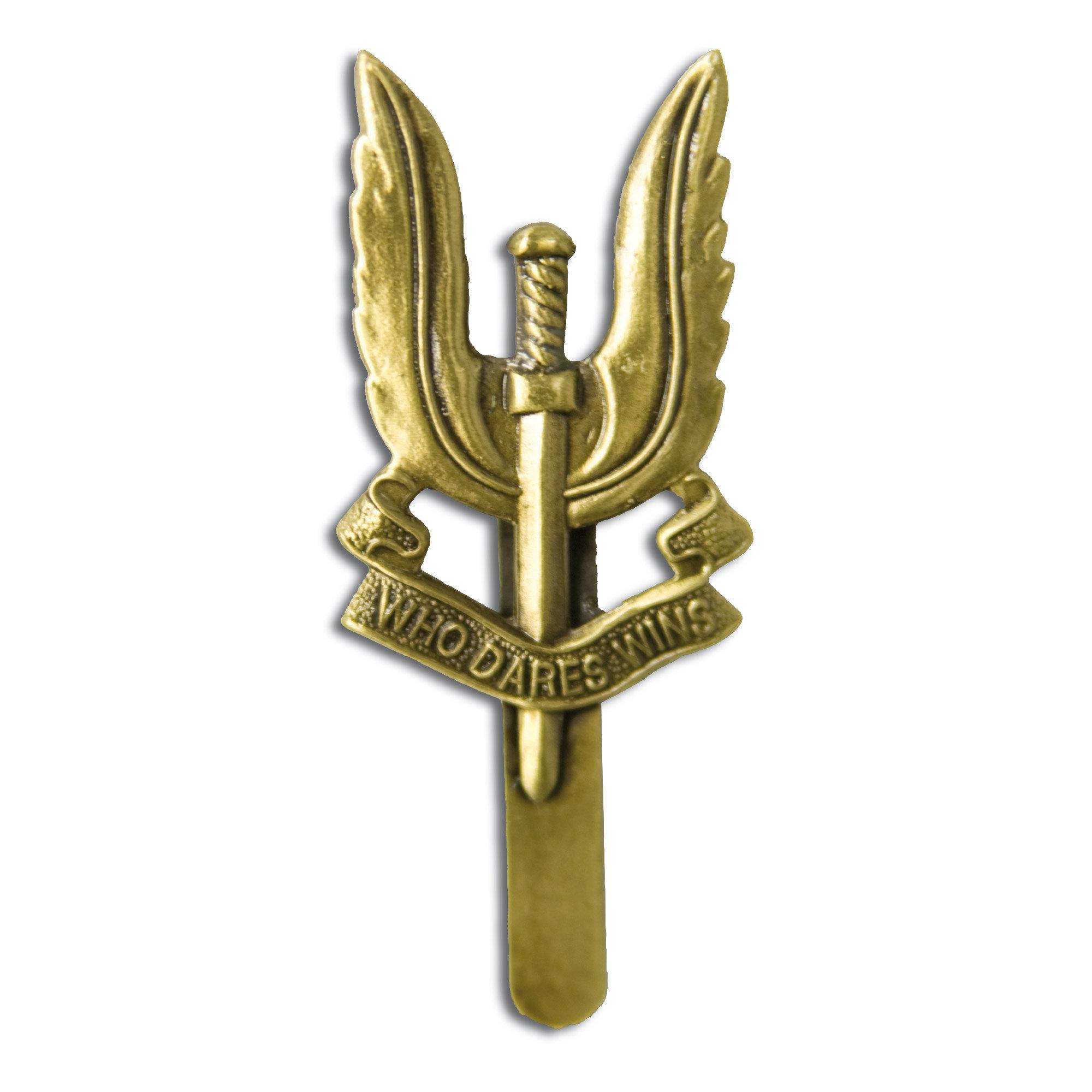 Insignia metálica SAS