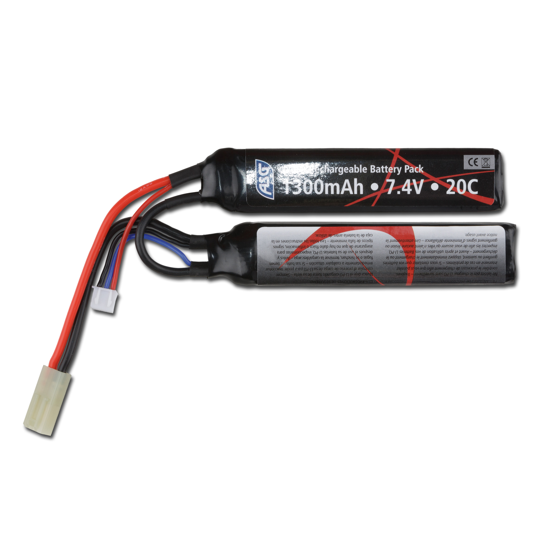 Batería Airsoft 7.4 V 1300 mAh 20C Li-Po Two-Panel