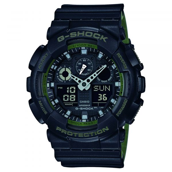 Casio Reloj G-Shock Classic GA-100L-1AER negro verde oliva