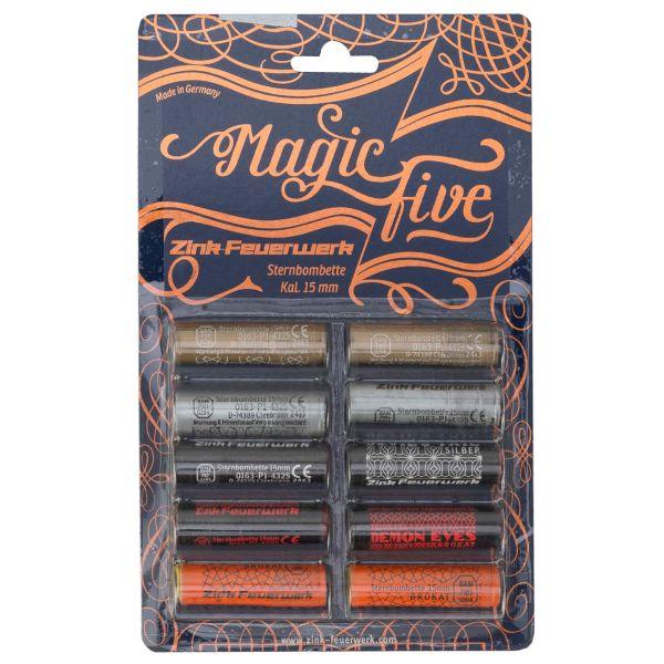 Zink Fuego Artificial Magic Five Variado 15 mm 10 u.