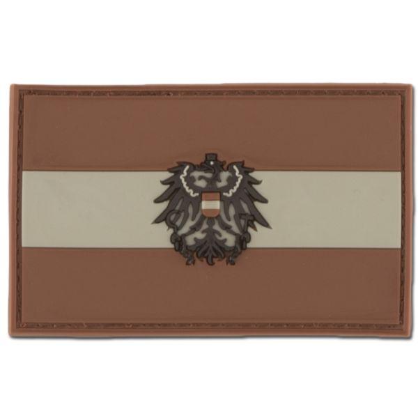 Parche-3D Austria con escudo darkdesert