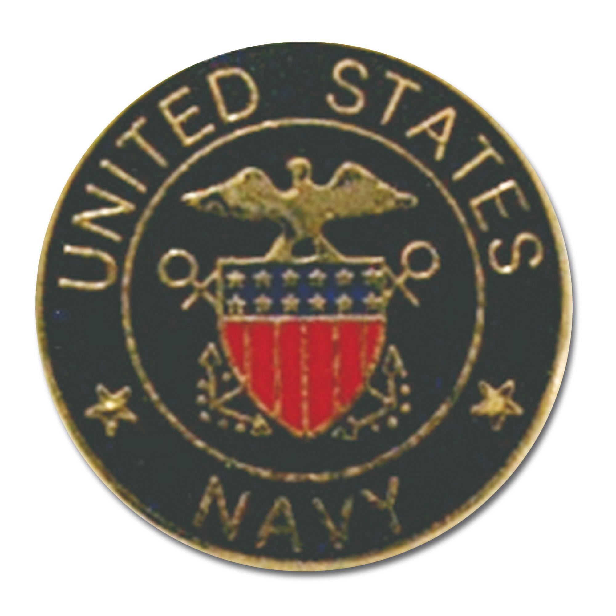 Mini pin US Navy redondo