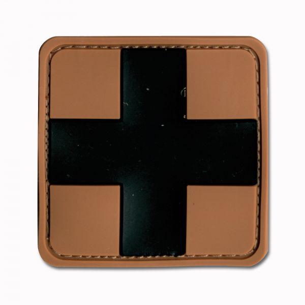 Parche 3D Red Cross Medic marrón/negro
