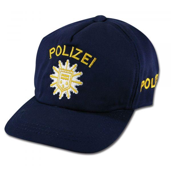 Gorra de béisbol Polizei infantil azul