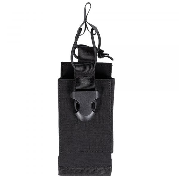 Mil-Tec Radio bolsa con velcro posterior negra