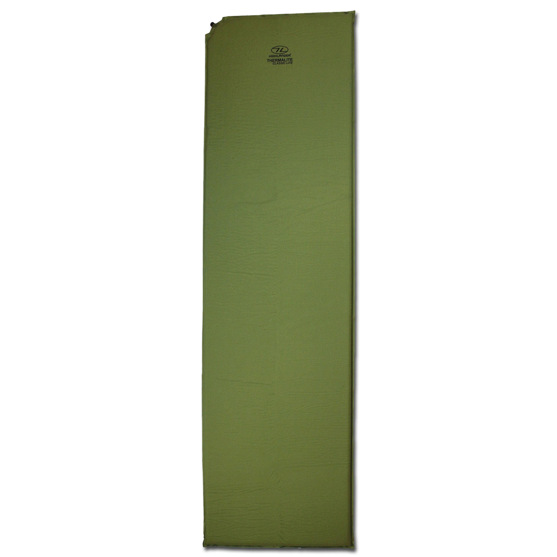 Colchoneta térmica Highlander Classic Lite autoinflable verde ol