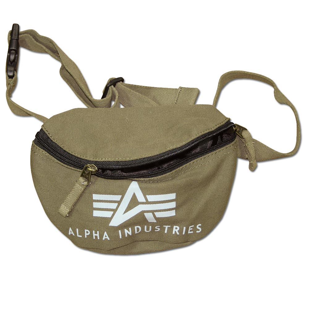 Riñonera Alpha Industries Big A Canvas Waist Bag verde oliva
