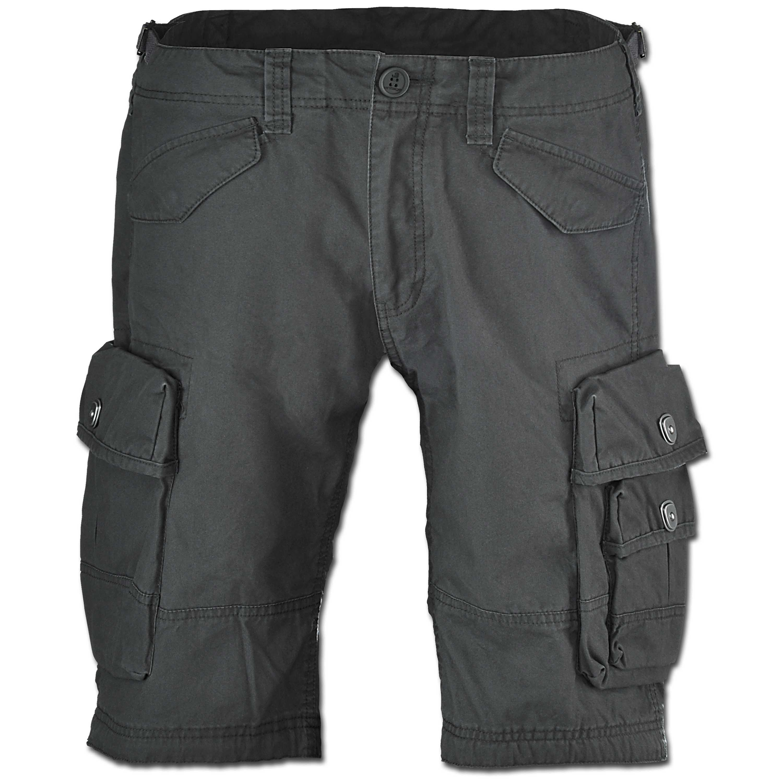 Pantalón corto Vintage Industries Shore antracita