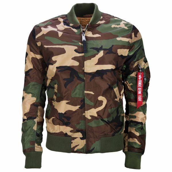 Alpha Industries chaqueta MA-1 TT woodland camo