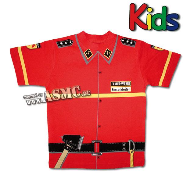 Camiseta para niños Bombero roja