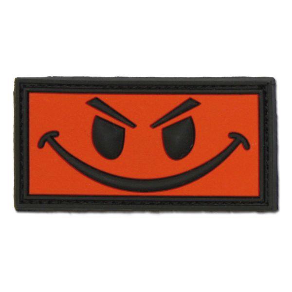 Parche 3D Evil Smiley rojo