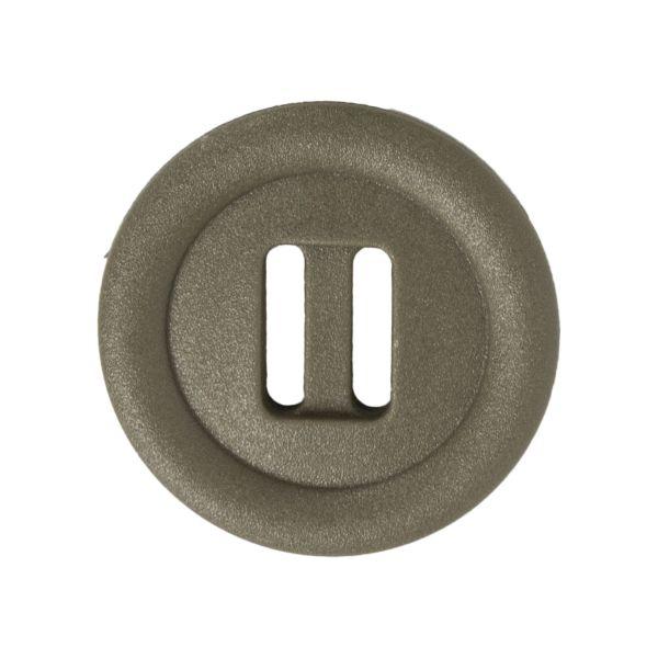 Botón de ojal alargado ITW Nexus 30mm verde oliva