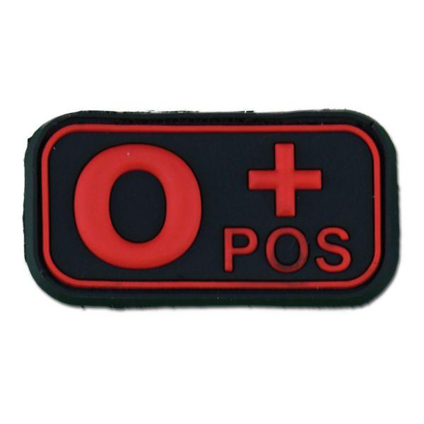 Parche 3D grupo sanguíneo 0 Pos blackmedic