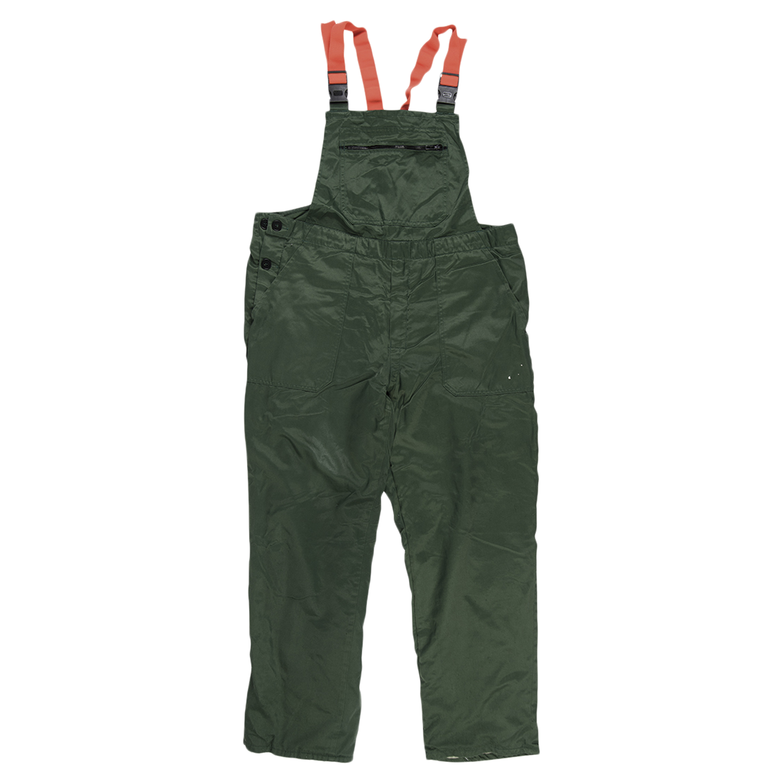 Pantalón de protección contra cortes BW con pechera verde usado
