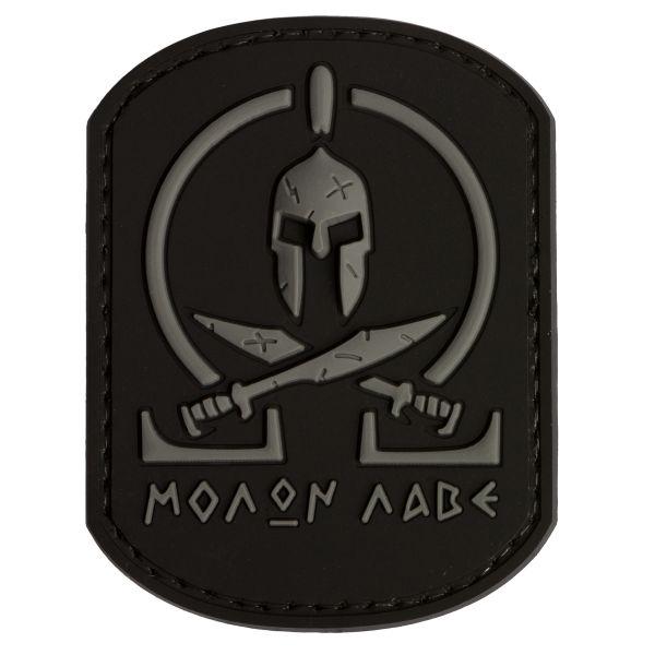 Parche - 3D TAP Molon Labe Spartan negro