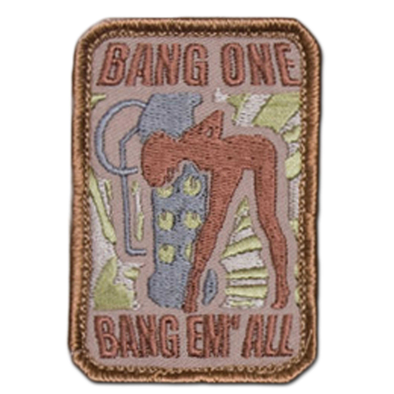 Parche MilSpecMonkey Bang One Bang Em All pequeño desert